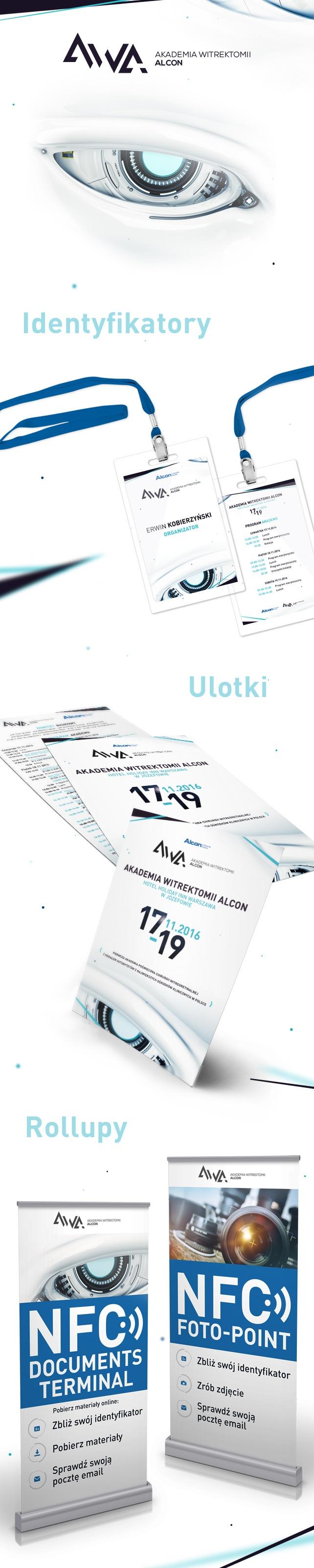 Identyfikacja wizualna, projekt graficzny ALCON