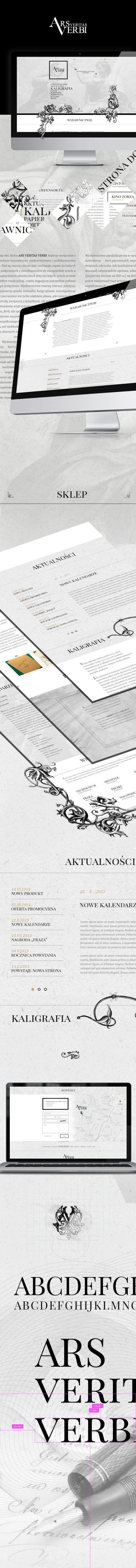 Strona www, projekt graficzny Ars Veritas Verbi internetowe wydawnictwo