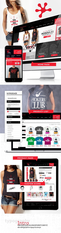 Sklep on-line, identyfikacja wizualna Artgeko koszulki z nadrukami