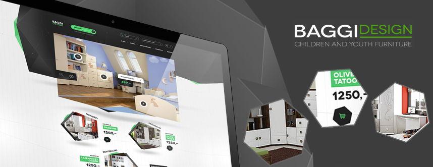 Sklep on-line, projekt graficzny Baggi Design producent mebli dziecięcych