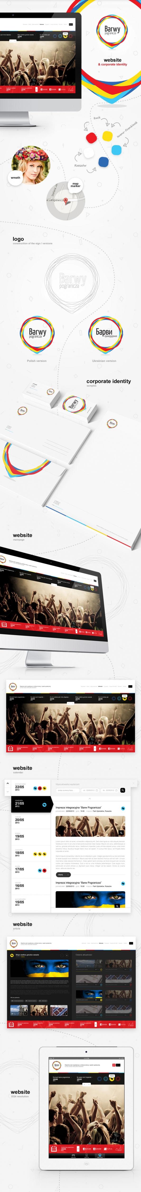 Strona www, identyfikacja wizualna Barwy pogranicza
