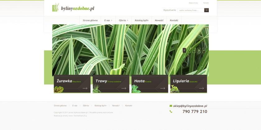 Strona www Byliny Ozdobne