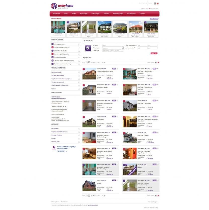Strona www Center House