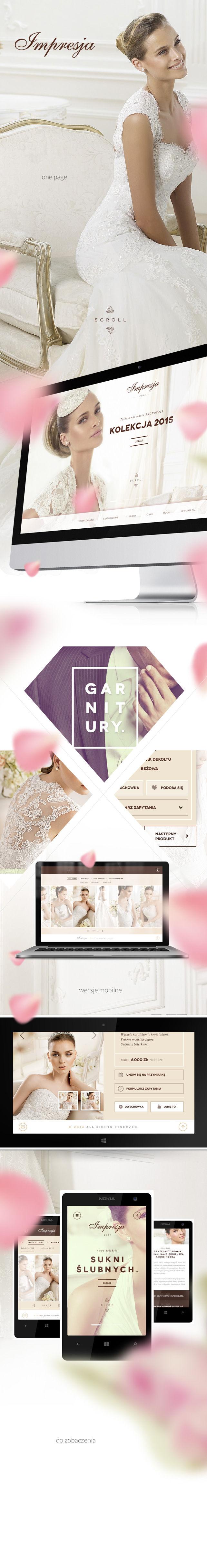 Strona www, projekt graficzny Centrum Mody Ślubnej Impresja