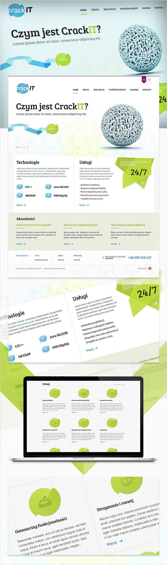 Strona www, logo CRACK IT