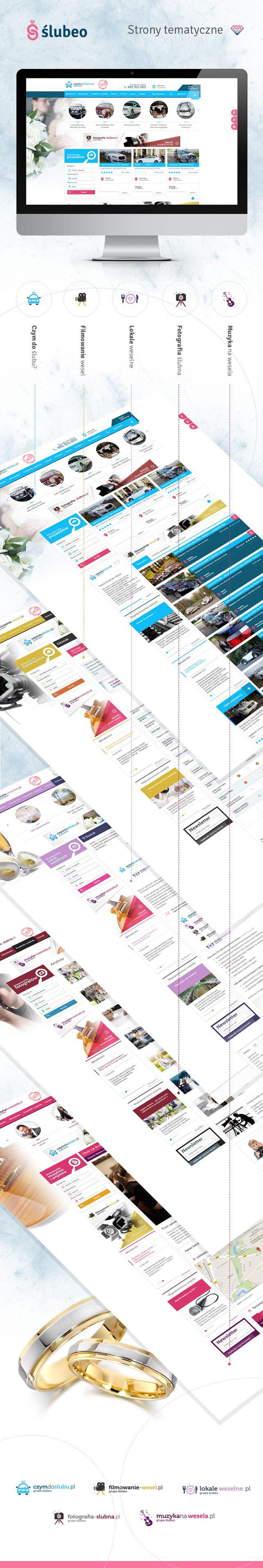Portal, projekt graficzny Dedykowane portale Grupy Slubeo