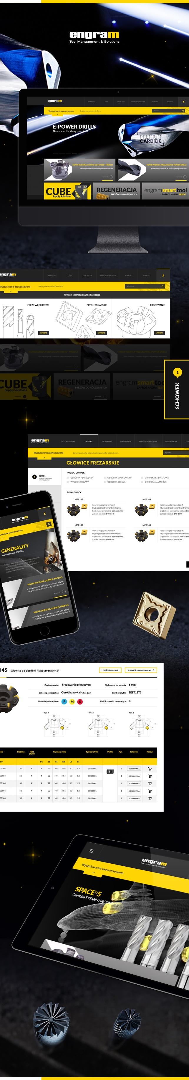Strona www, projekt graficzny ENGRAM MMT Dystrybutor specjalistycznych narzędzi