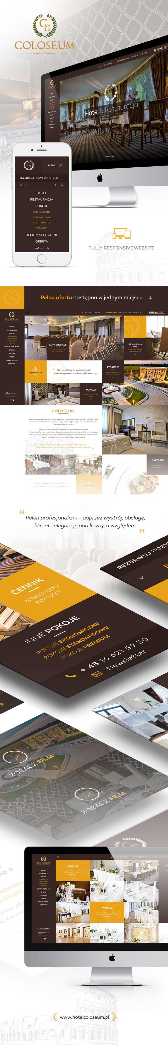 Strona www, projekt graficzny Hotel Coloseum