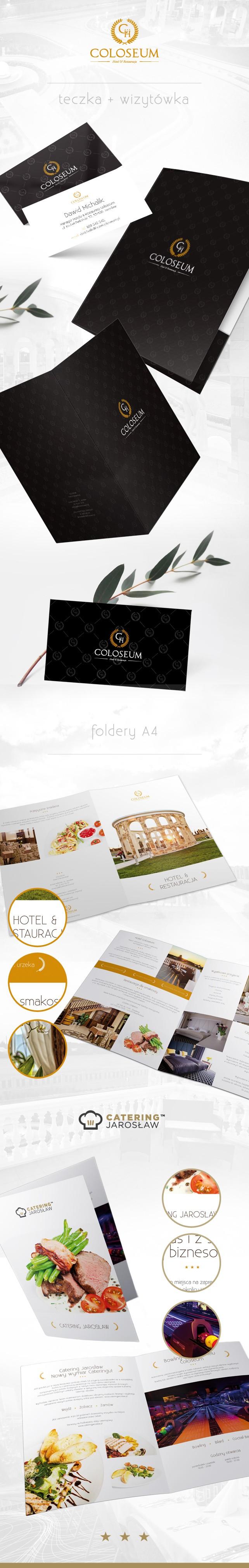 Projekt graficzny, dtp Hotel Coloseum DTP