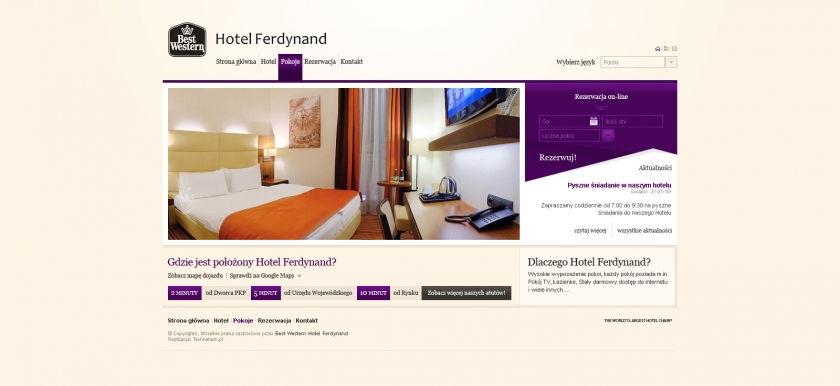 Strona www Hotel Ferdynand