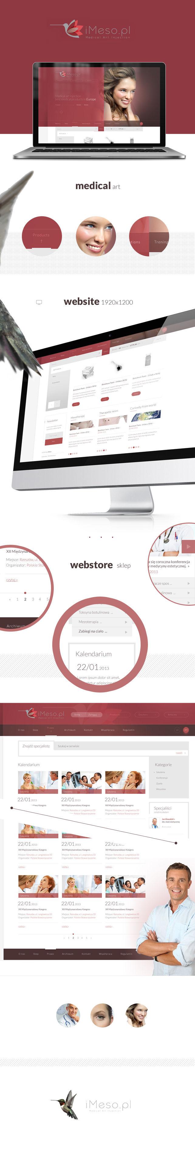 Strona www, sklep on-line iMESO medycyna estetyczna