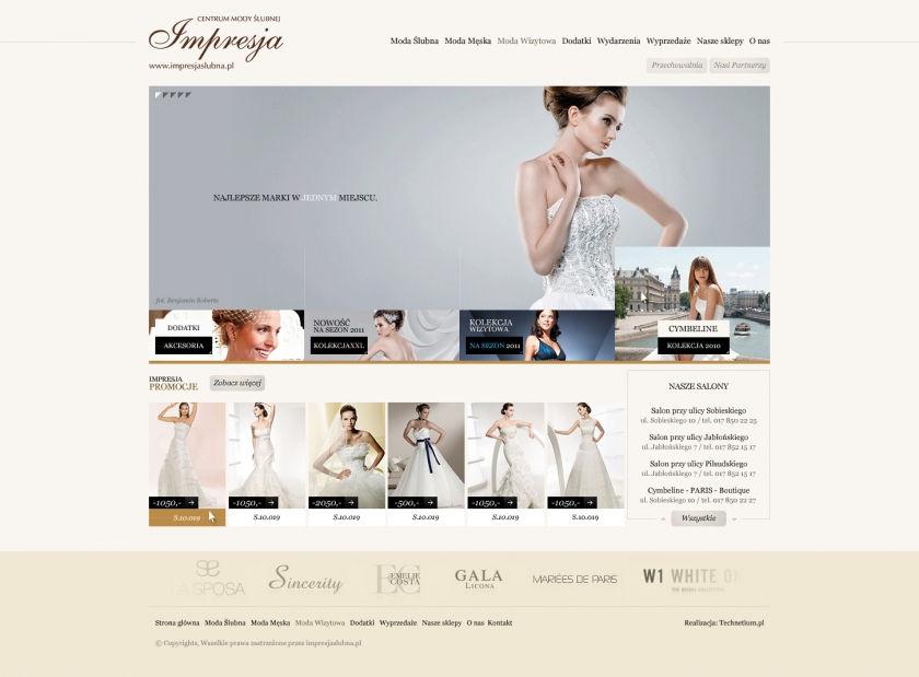 Strona www Impresja Ślubna