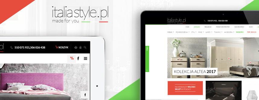 Sklep on-line, logo Italia Style sklep z meblami włoskimi