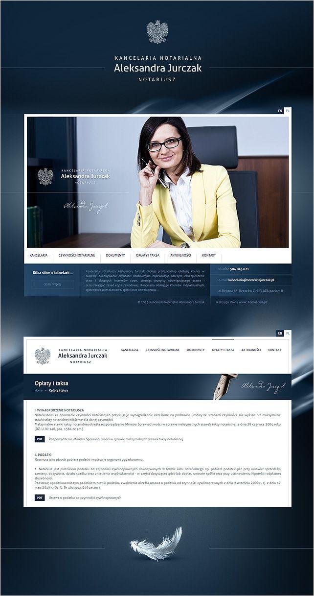 Strona www Kancelaria Notarialna Jurczak