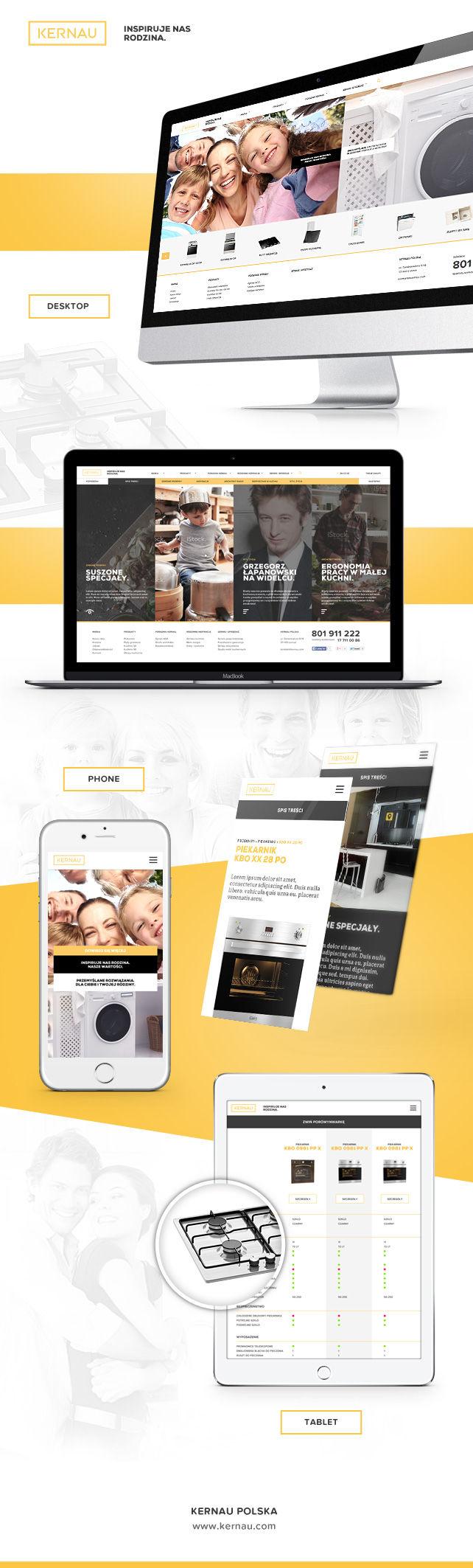 Strona www, sklep on-line KERNAU producent AGD