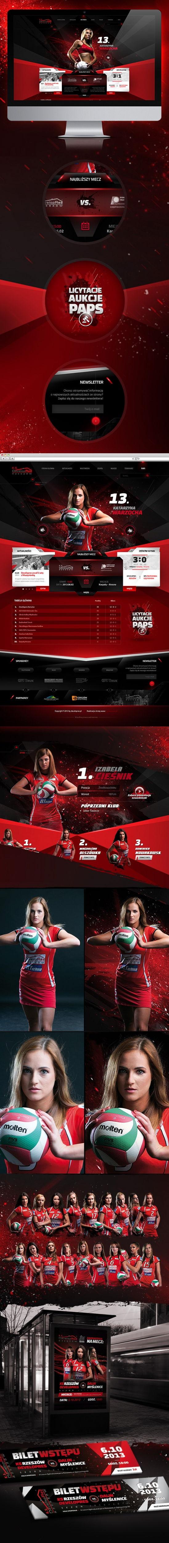 Strona www, projekt graficzny KS Developres Rzeszów