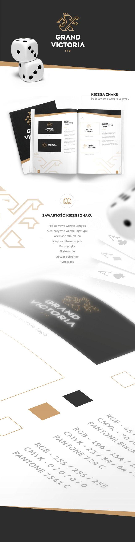 Identyfikacja wizualna, logo Księga znaku Grand Victoria