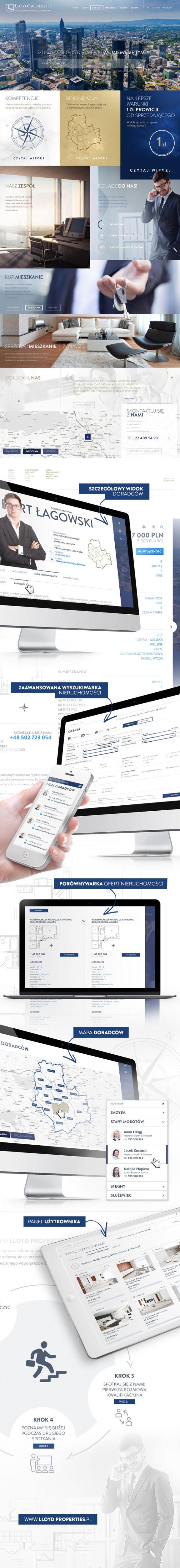 Strona www, portal Lloyd Properties agencja pośrednictwa nieruchomości