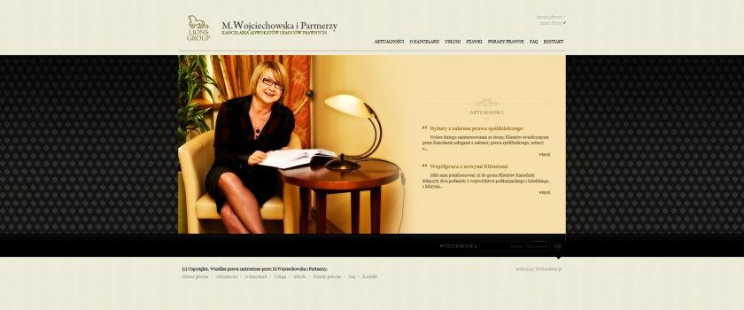 Strona www M. Wojciechowska i Partnerzy