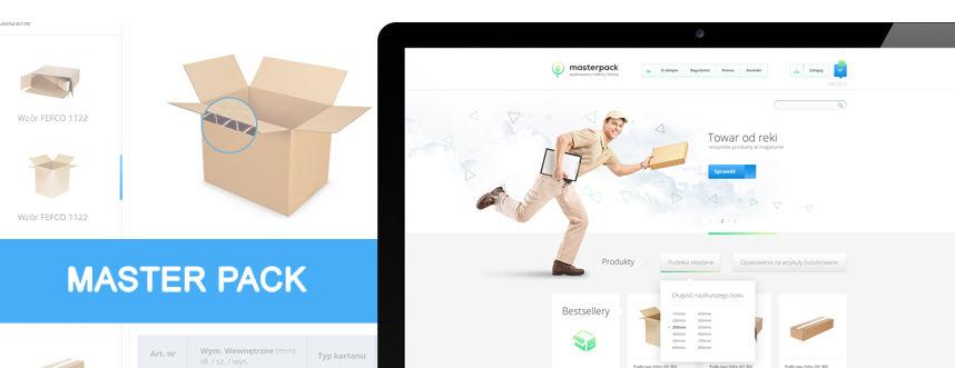 Sklep on-line, projekt graficzny Masterpack producent opakowań kartonowych