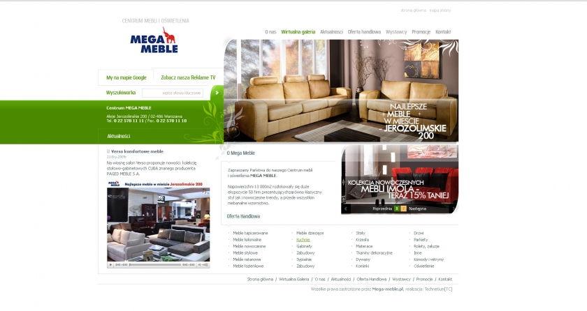 Strona www Mega Meble