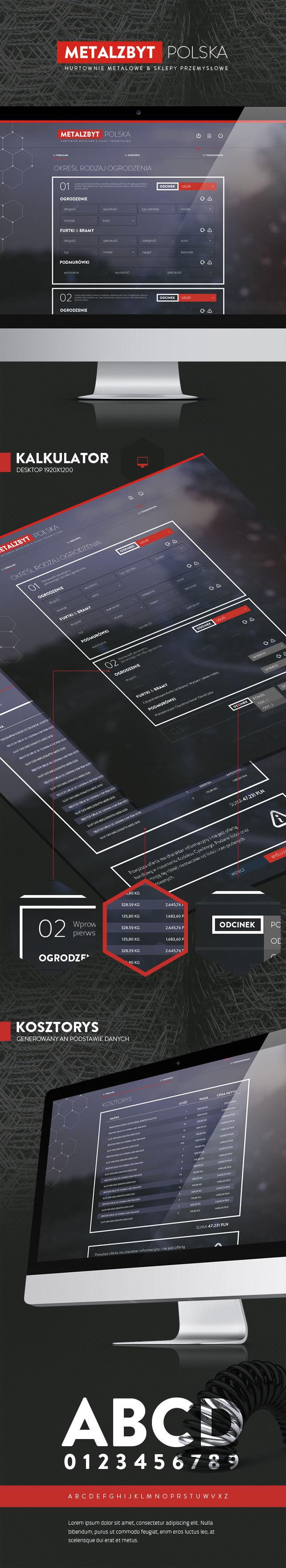 Projekt graficzny, konfiguratory Metalzbyt Kalkulator bram i ogrodzeń