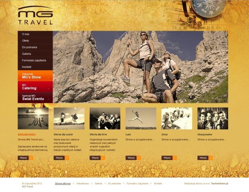 Strona www MG Travel