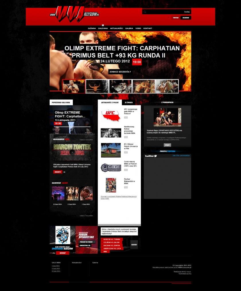 Strona www MMA Rzeszów