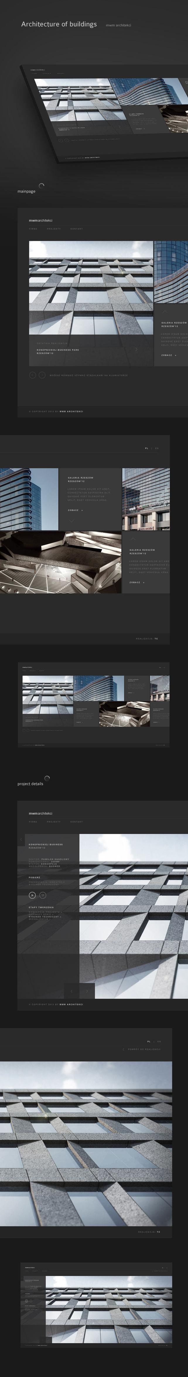 Strona www, projekt graficzny MWM Architekci