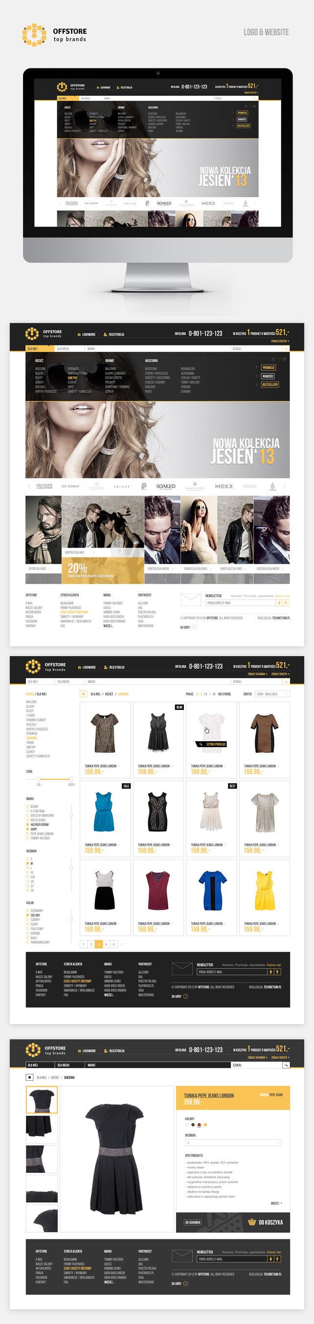 Sklep on-line, logo OFF Store