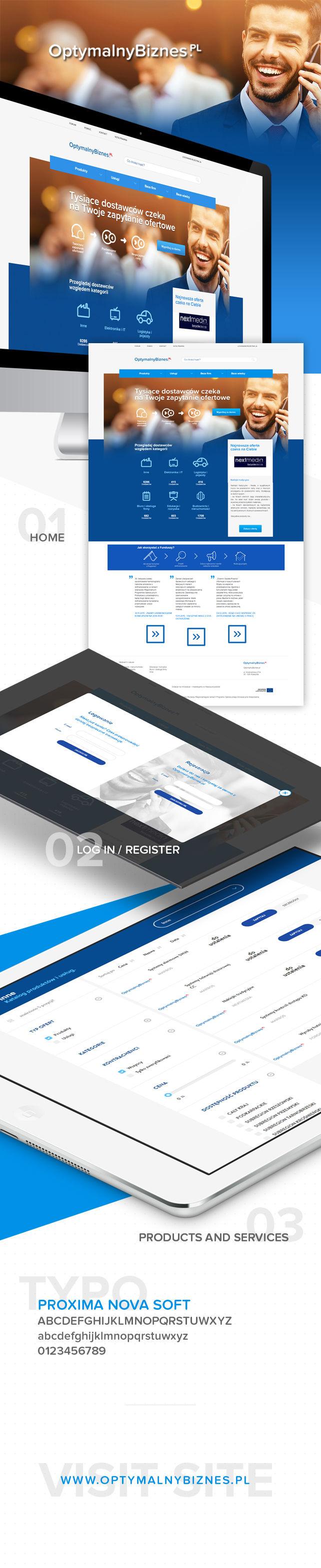 Strona www Serwis internetowy - Optymalny Biznes portal dla przedsiębiorców