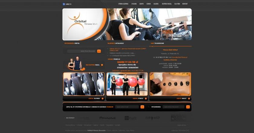 Strona www Orbital Fitness