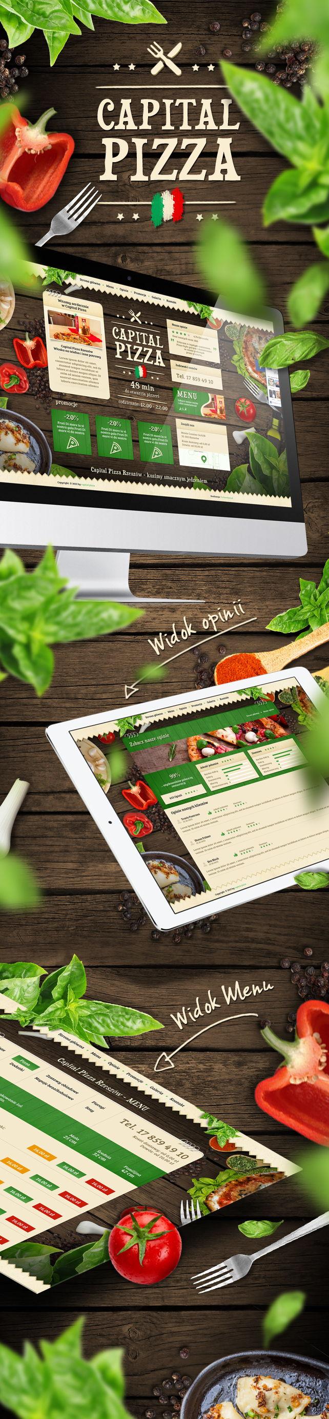 Strona www, projekt graficzny Pizzeria Capital Pizza