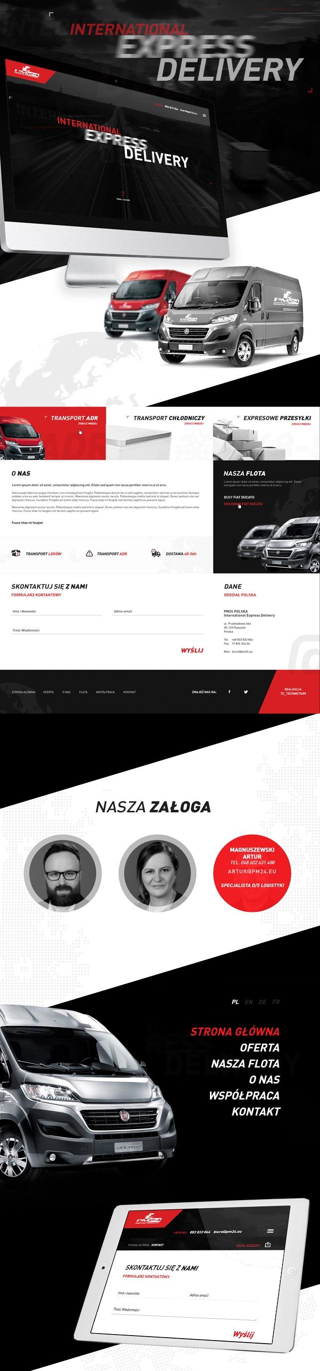 Strona www, projekt graficzny PM24