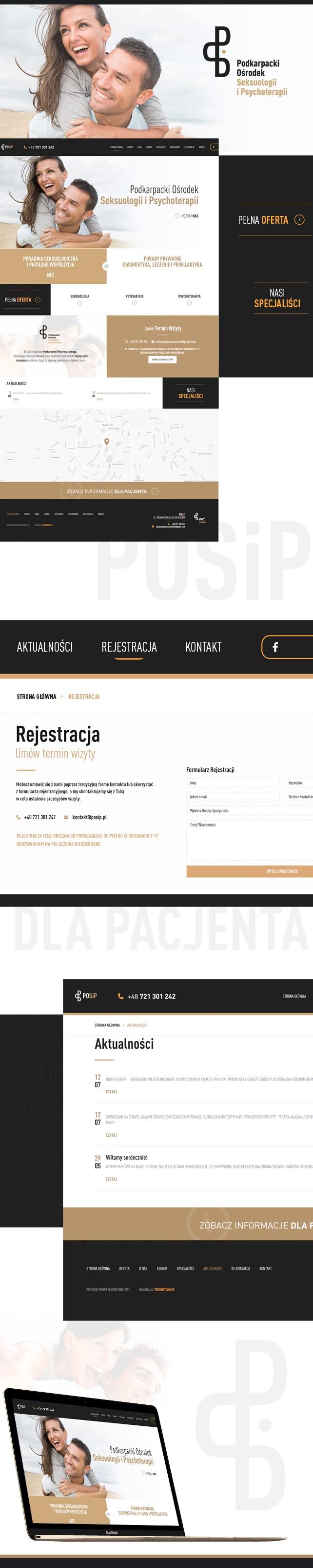 Strona www, logo Podkarpacki Ośrodek Seksuologii i Psychoterapii