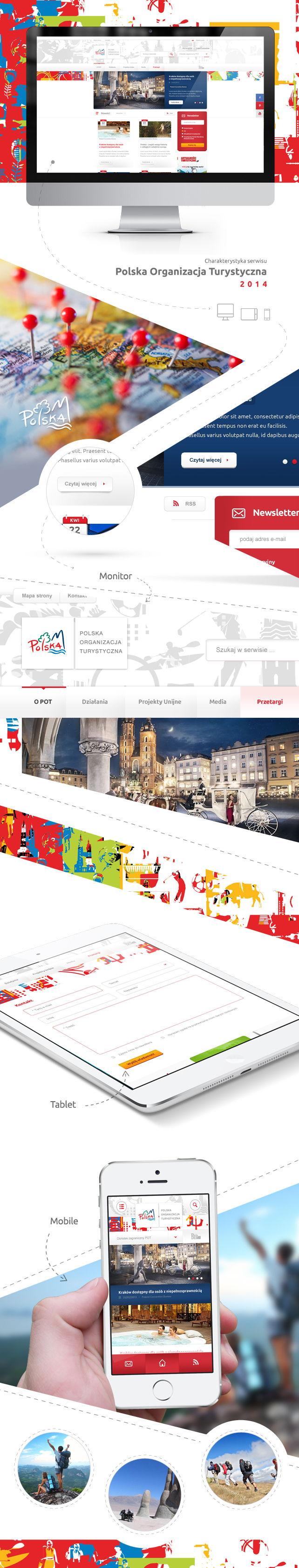 Projekt graficzny Polska Organizacja Turystyczna