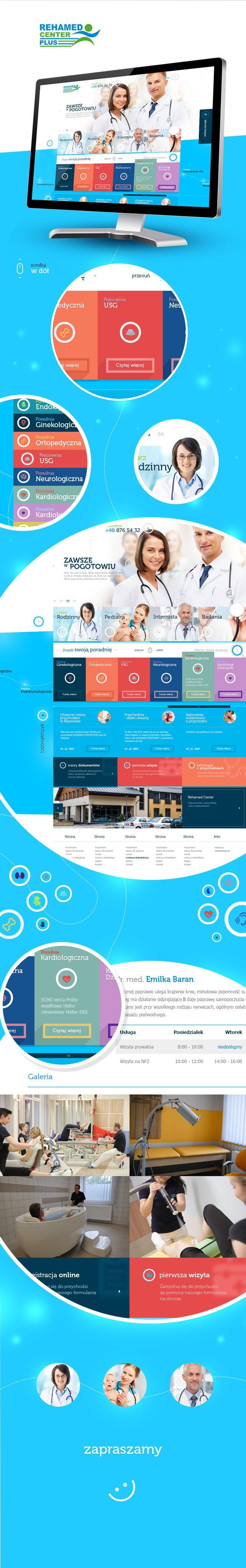 Strona www, projekt graficzny Rehamed Center Plus przychodnia