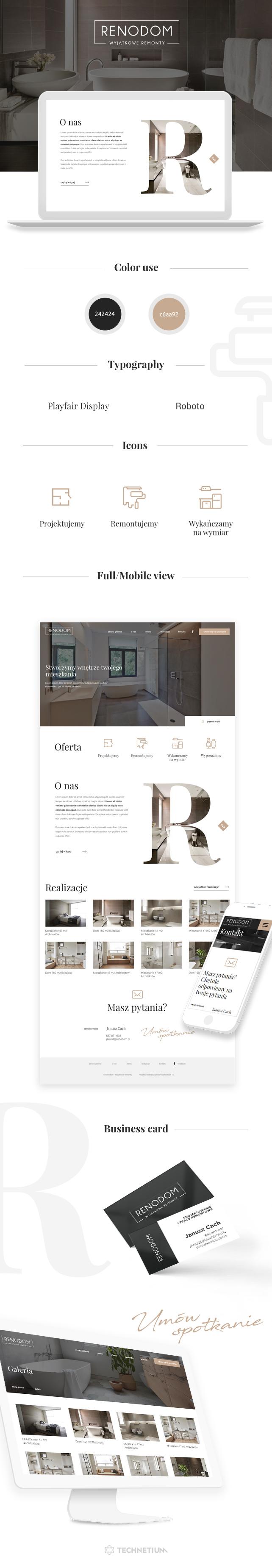 Strona www, identyfikacja wizualna Renodom