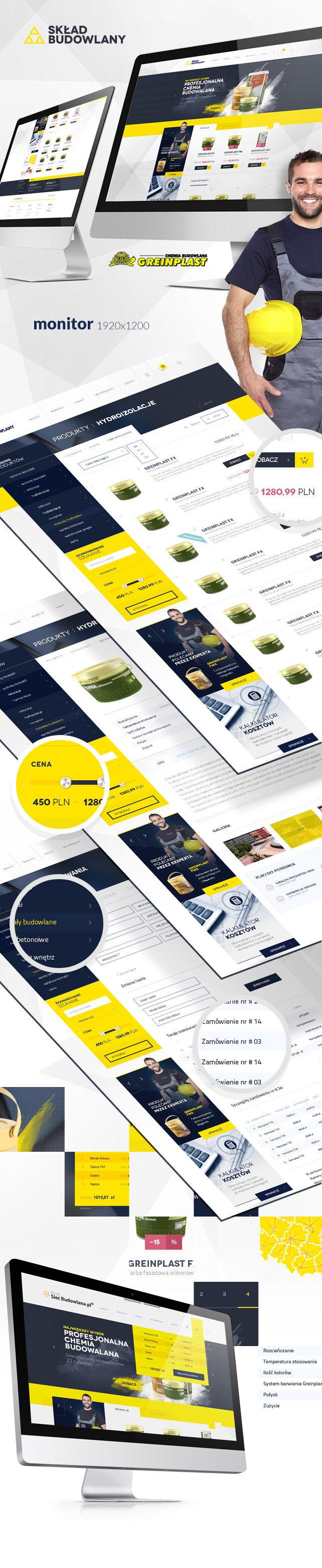 Sklep on-line, projekt graficzny Sklep Greinplast