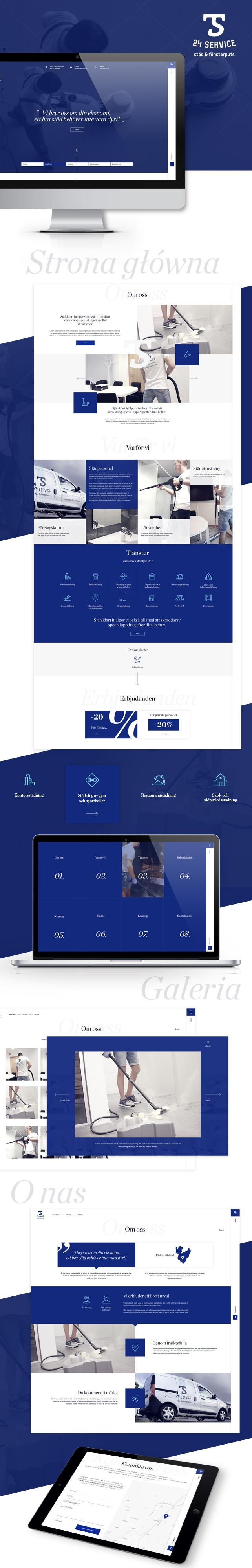Strona www, projekt graficzny ST24 Service