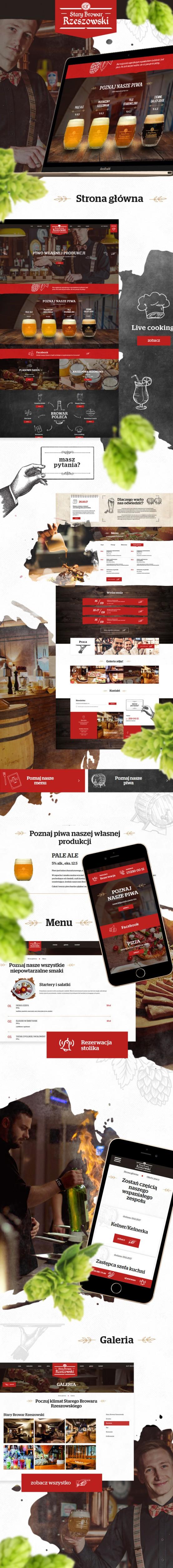 Strona www, sklep on-line Stary Browar Rzeszowski