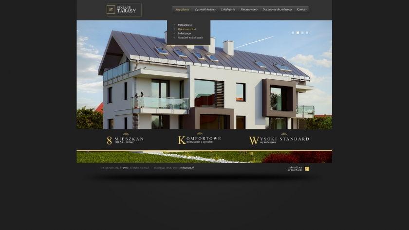 Strona www Szklane Tarasy