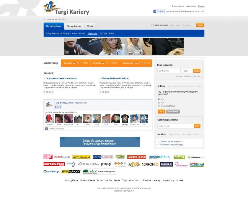 Strona www Targi Kariery