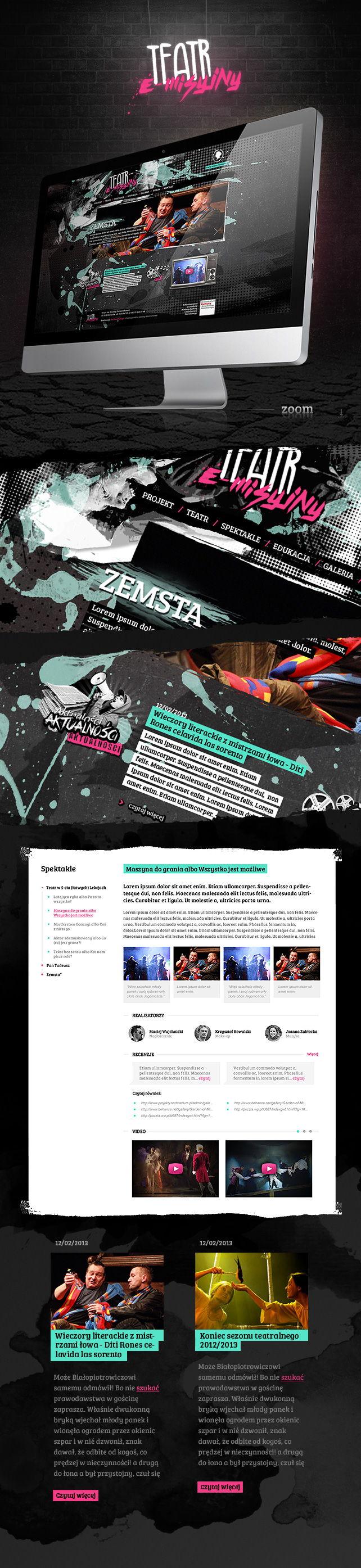 Strona www, identyfikacja wizualna Teatr im. W. Siemaszkowej