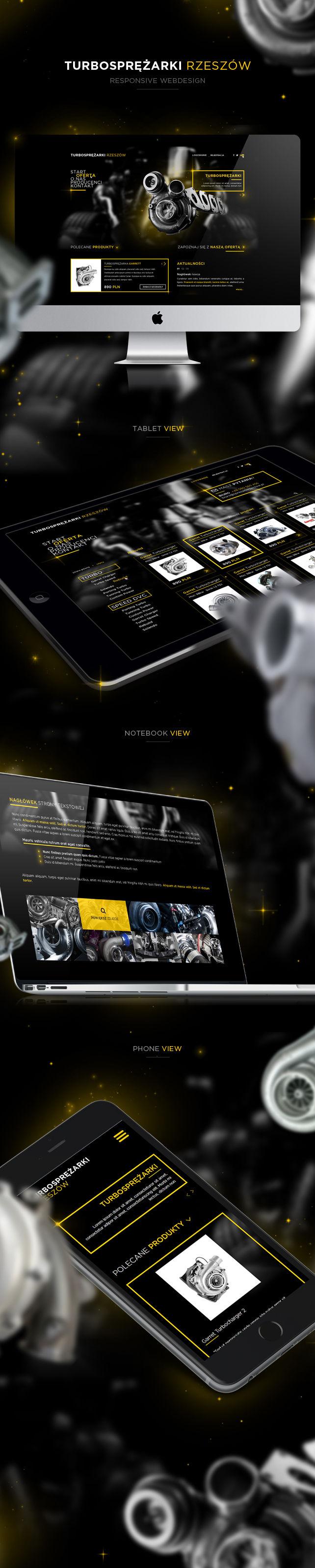 Strona www, projekt graficzny Turbosprężarki serwis i regeneracja