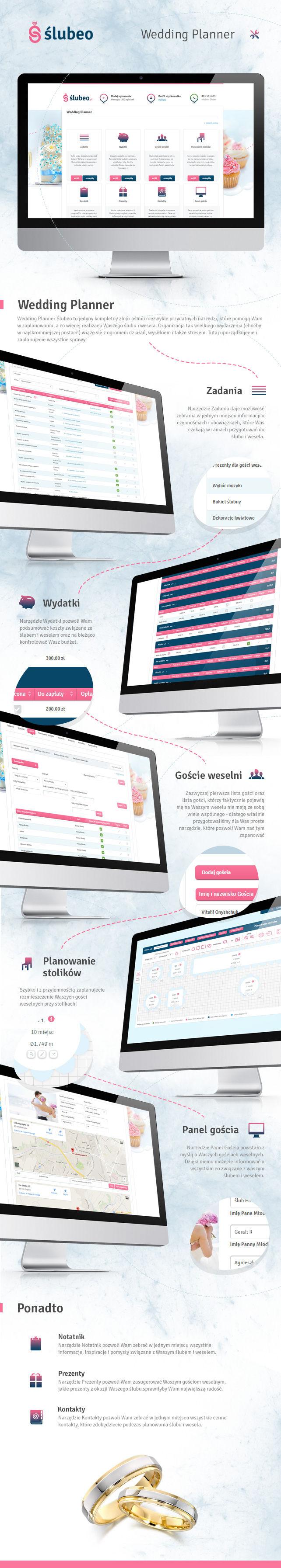 Portal, projekt graficzny Wedding Planner